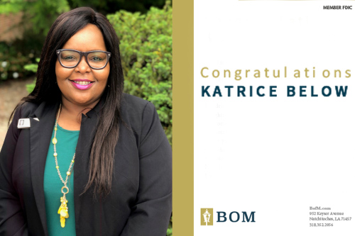 BOM Announces Promotion Of Katrice Below To Vice President